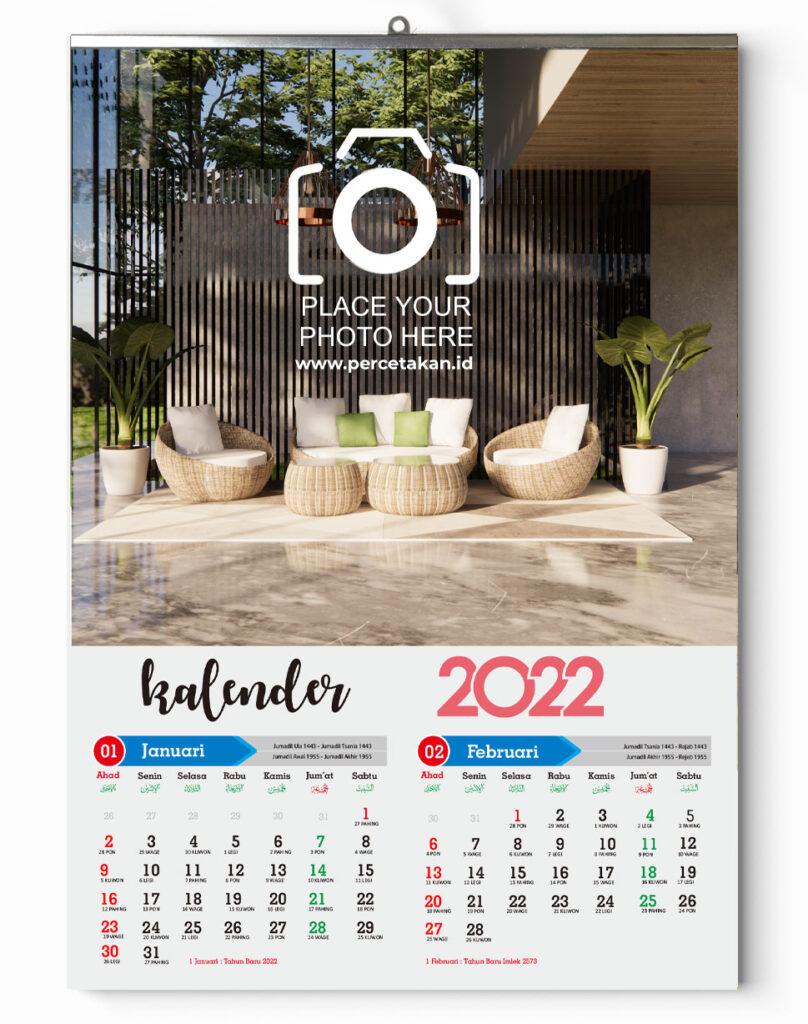 kalender dinding isi 6 lembar