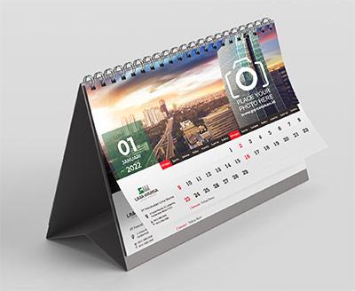 contoh cetak kalender meja